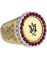 Alexander McQueen | Engraved Ring | Lyst