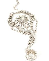 Forever 21 Rhinestone Medallion Hand Chain - Lyst