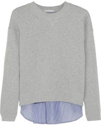 Richard Nicoll Paneled Cotton-terry Sweatshirt - Lyst