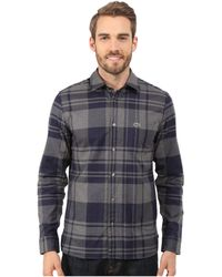 Lacoste | Long Sleeve Bold Check Flannel Shirt | Lyst