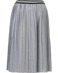 Topshop Womens Jersey Pleated Sporty Midi Skirt Grey Marl - Lyst