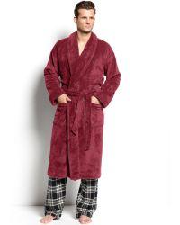 Polo Ralph Lauren Fleece Shawl Collar Robe - Lyst