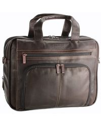 Kenneth Cole Reaction - Colombian Leather Expandable 15.4 Computer Portfolio0125-524461 - Lyst