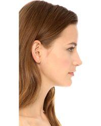 Kristen Elspeth - Hammered Bar Stud Earrings - Lyst