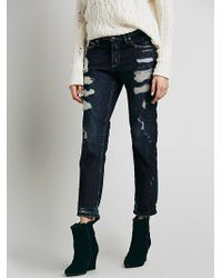 Free People Savanna Destroyed Crop - Lyst