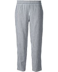 Theyskens' Theory Striped Straight Leg Trousers - Lyst
