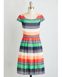 ModCloth | Made For Each Color Dress In Stripes | Lyst