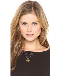 Sarah Chloe - Eva Engraved Pendant Necklace - Lyst