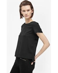 French Connection | Polly Plains Frill Back Top | Lyst