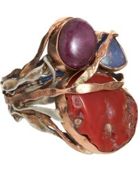 Sandra Dini - Coral Ruby Opal Ring - Lyst