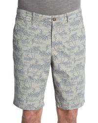 Original Penguin Slim-Fit Hawaiian-Print Shorts - Lyst