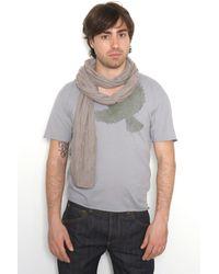 Yigal Azrouël V-Neck Graphic Stitch Tee gray - Lyst
