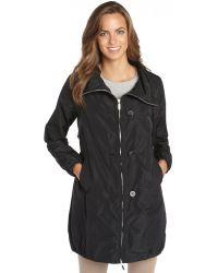 Moncler  Woven Cinched Waist Raincoat - Lyst