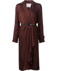 Jason Wu Drape Wrap Dress purple - Lyst