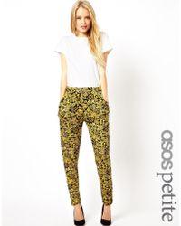 Asos Peg Pants in Floral Print - Lyst