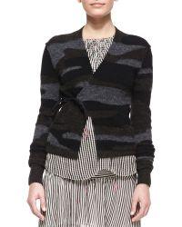 Etoile Isabel Marant Varyia Camo Wrap Sweater - Lyst