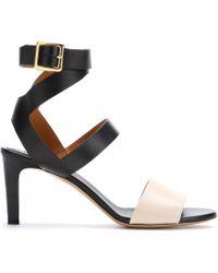 Chloé Black Leather Sandals - Lyst