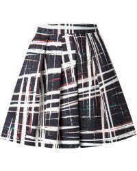 Sam & Lavi - Brush Stroke Print A-Line Skirt - Lyst