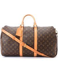 Louis Vuitton Monogram Keepall 50 Bandou Travel Bag - Lyst
