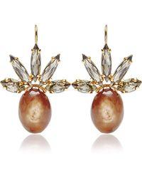 Marni Crystal and Horn Drop Earrings - Lyst
