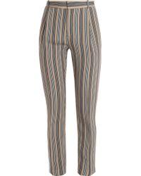 Joseph Tessa Stripe Silk Trousers - Lyst