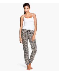 H&M Fleece Pyjama Bottoms - Lyst