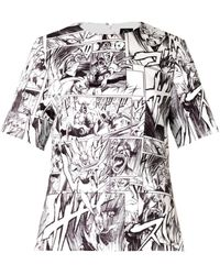McQ by Alexander McQueen Manga-Print Top white - Lyst