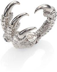 Alexander McQueen Skull Claw Ring - Lyst