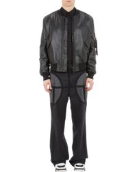 Givenchy Leather Bomber Jacket - Lyst