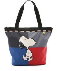 LeSportsac - Peanuts X Snoopy Hailey Tote - Snoopy Hailey - Lyst