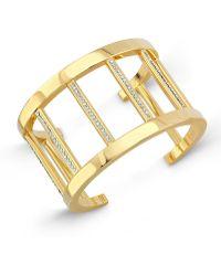Vita Fede - 24k Gold-dipped Pandora Cuff Bracelet W/ Crystals - Lyst