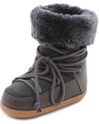Ikkii - Classic Suede Shearling-Lined Boots - Lyst