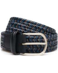 Andersons | Navy Woven Leather Belt | Lyst