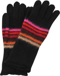Sonia Rykiel - Long Striped Wool And Mohair Gloves - Lyst