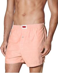 Levi's Woven Oxford Cloth Boxer Shorts - Lyst