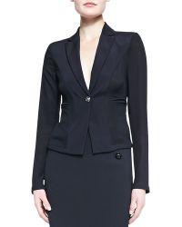 Versace Fitted Onebutton Blazer Black - Lyst