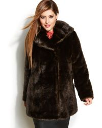 Jones New York Plus Size Faux Fur Coat - Lyst
