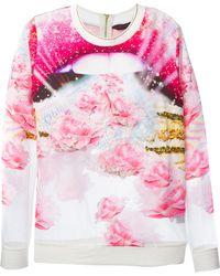 Manish Arora Printed Embellished Sweatshirt - Lyst
