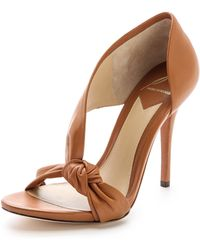 B Brian Atwood - Chryssa Knotted Sandals Cafe - Lyst