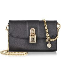 Patrizia Pepe - Mini Clutch Bag In Leather With Shoulder Strap - Lyst