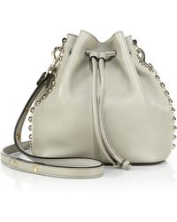 Rebecca Minkoff Studded Leather Bucket Bag - Lyst