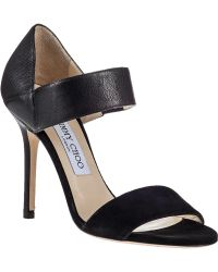 Jimmy Choo Tallow Sandal Black Leather - Lyst