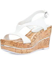 Donald J Pliner Delon Leather Wedge Sandal - Lyst