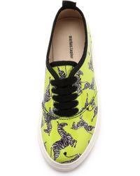 Markus Lupfer - Zebra Platform Sneakers - Lime - Lyst