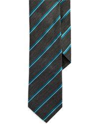 Hugo Boss Gray Striped Tie - Lyst
