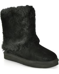 Ugg Patten - Shearling Cuff Boot - Lyst