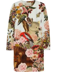 Mary Katrantzou Printed Cotton And Silk-Blend Coat - Lyst