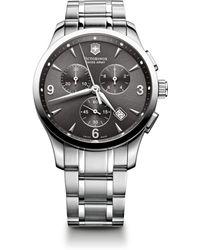 Victorinox Alliance Stainless Steel Chronograph Bracelet Watch - Lyst