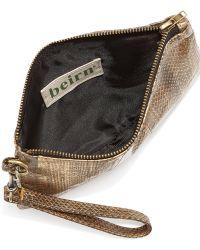 Beirn - Alyson Snake Wristlet Clutch Bag - Lyst