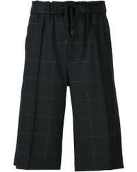 Public School - Windowpane Check Bermuda Shorts - Lyst